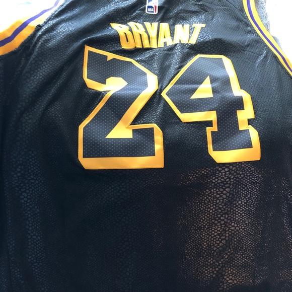 Kobe Bryant Black Mamba Jersey Snakeskin #8 front #24 back Men/'s NWT